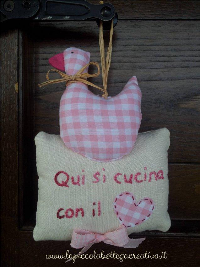 decorazione-cucina-cotone-rosa-quadretti