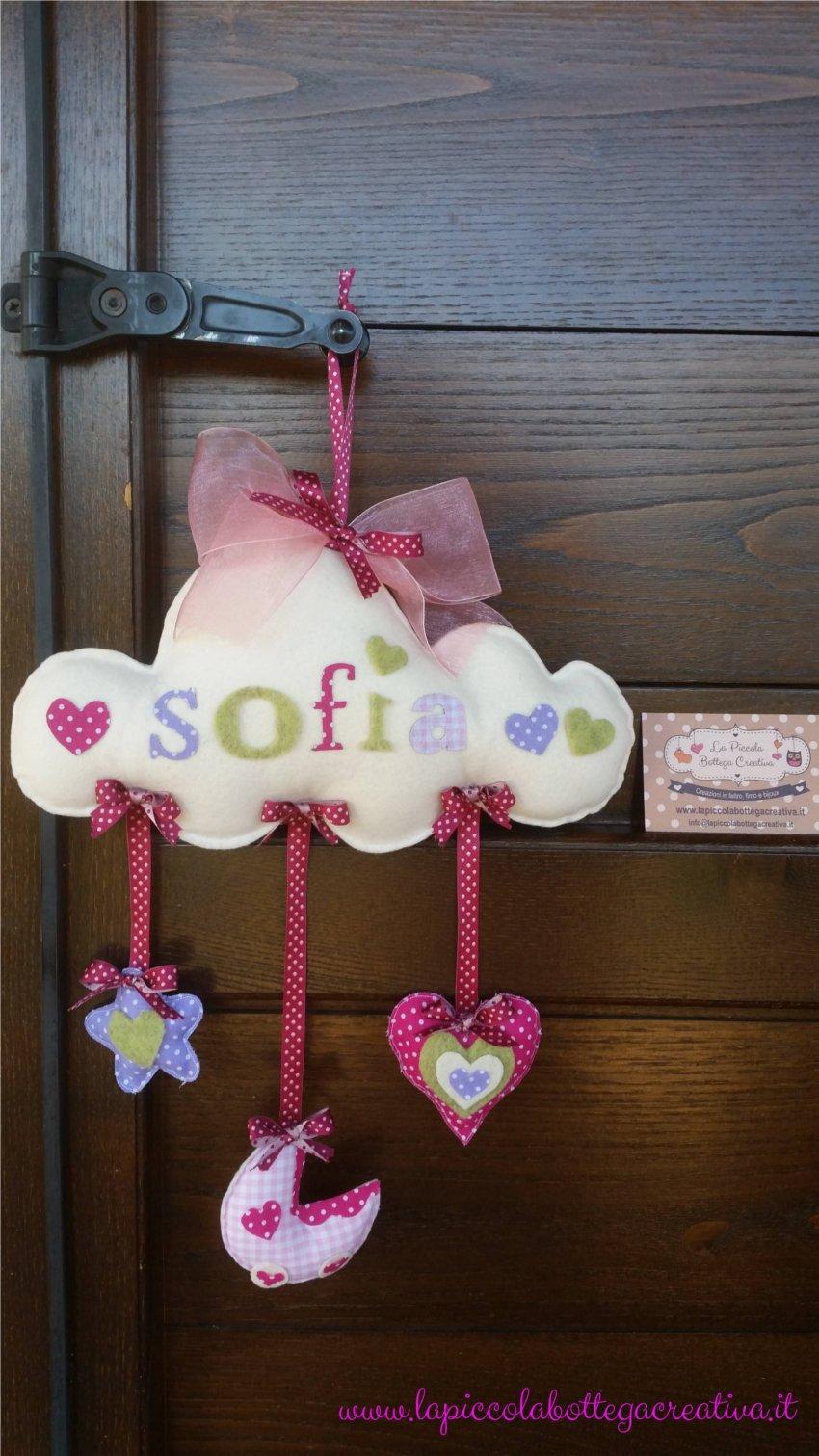 Bien-aimé Fiocco di nascita bimba - la piccola bottega creativa RM44