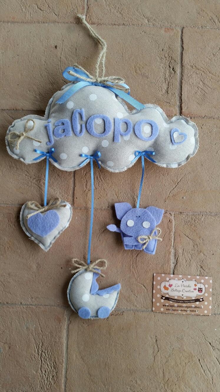 Amato Fiocco nascita bimbo - La piccola bottega creativa QW97