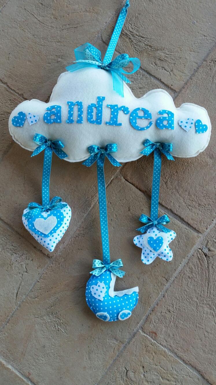 Super Fiocco di nascita nuvoletta - La piccola bottega creativa QV13