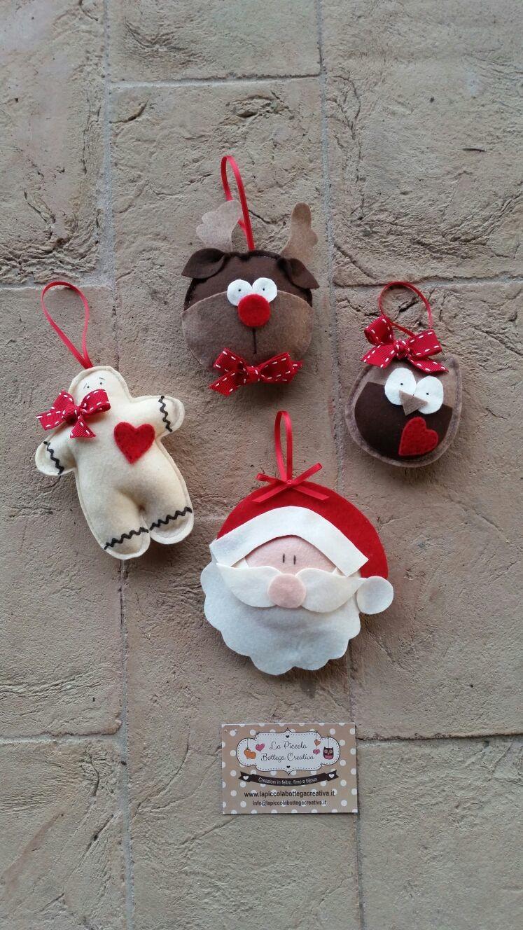 Eccezionale Decorazioni natalizie feltro - La Piccola Bottega Creativa II73